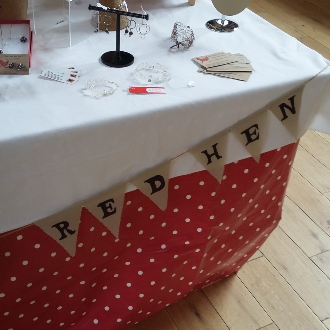 the little red hen jewellery stall craft fair