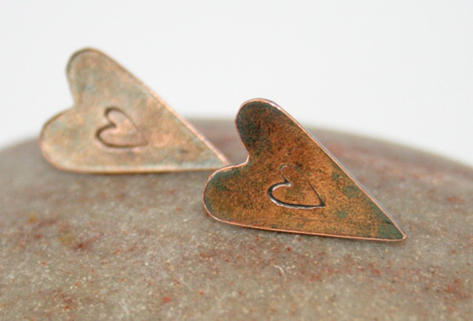 Folksy heart copper stamped earrings handmade love_edited-2