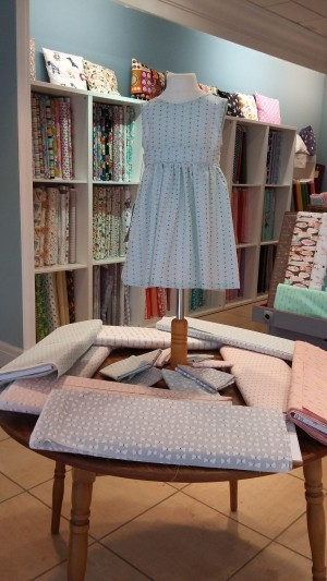 Pretty pastels; I came away with some of the turquoise fabric