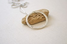 Silver personalised pendant