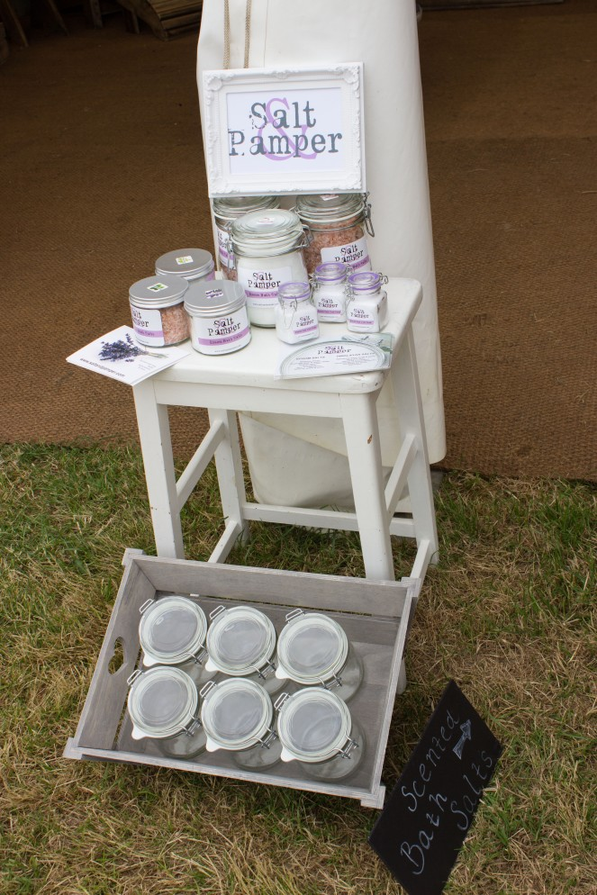 Salt and Pamper stand midsummer fair