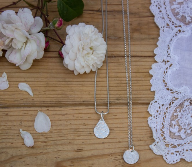 rambling rose vintage lace pendant product photograph