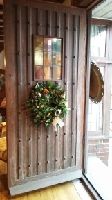 Ginko Floristry Christmas door wreath