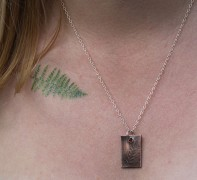 copper fern pattern necklace fern leaf handmade jewellery